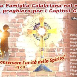 ORA DI PREGHIERA/ADORAZIONE EUCARISTICA DELLA FAMIGLIA CALABRIANA NEL MONDO